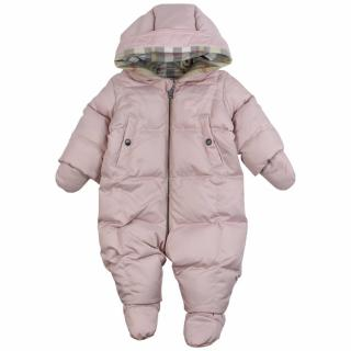 Burberry 12m Skylar Pink Puffer Snowsuit