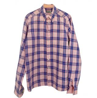 Eton Pink & Blue Checked Linen Shirt