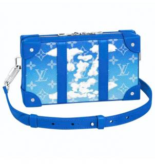 Louis Vuitton Blue Monogram Clouds Soft Trunk Bag