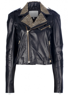 Pierre Balmain Studded Leather Biker Jacket