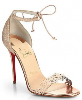 Christian Louboutin 'Valnina' Cutout Leather Sandals