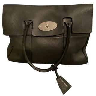 Mulberry Grey Leather Charcoal Bayswater Bag