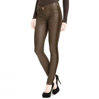 Marc by Marc Jacobs Brown Mirah Leather Trousers