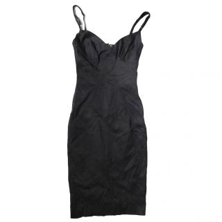 Dolce & Gabbana Black Fitted Sleeveless Cocktail Dress