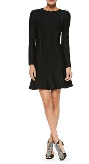 Herve Leger Black Barbara Mini Dress