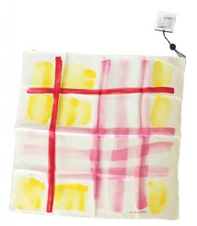 Burberry Multicoloured Brushstroke Print Silk square scarf
