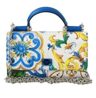 Dolce & Gabbana Printed Sicily Von Crossbody Bag