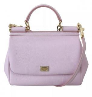 Dolce & Gabbana Pale Pink Leather Sicily Bag