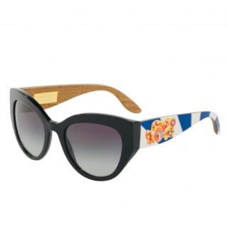 Dolce & Gabbana Caretto Print Sunglasses