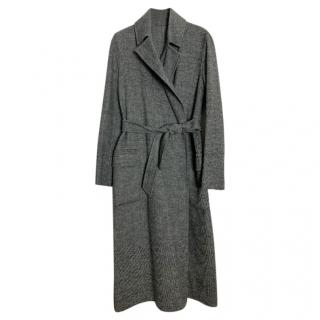 MaxMara reversible grey/black wrap around coat