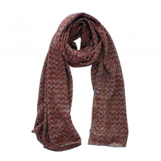 Missoni brown lurex/wool scarf