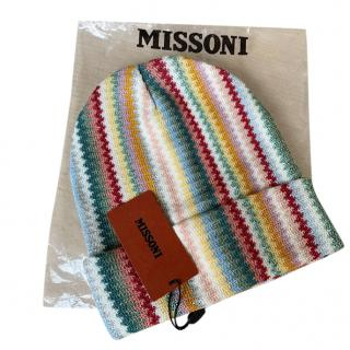 Missoni Striped Knit Wool Blend Hat