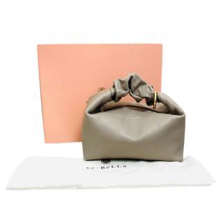Subella Dove Grey Leather Mini Clutch