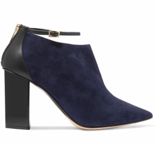 Jimmy Choo Leather & Suede Two-Tone Block Heel Pumps