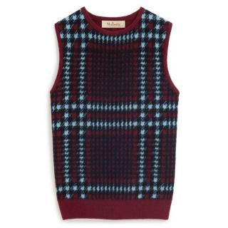 Mulberry Cashmere & Wool Classic Burgundy Tank
