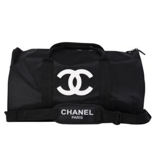 Chanel Black VIP CC Gym Duffle Bag