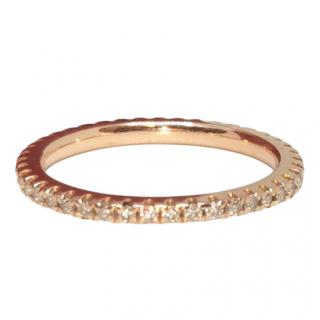 Bespoke rose gold diamond eternity ring