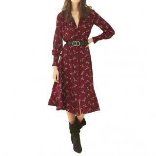 Ba&Sh burgundy printed Flore dress