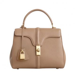 Celine Beige Grained Calfskin Small 16 Bag