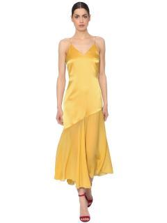 Racil Silk Satin & Chiffon Dress