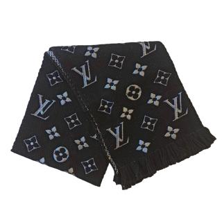 Louis Vuitton black logomania shine scarf