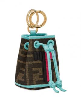 Fendi Mon Tresor micro bucket bag charm - Letter T