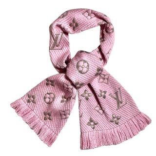 Louis Vuitton Pink Logomania Shine Shawl