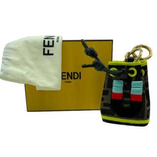 Fendi Mon Tresor micro bucket bag charm - Letter U