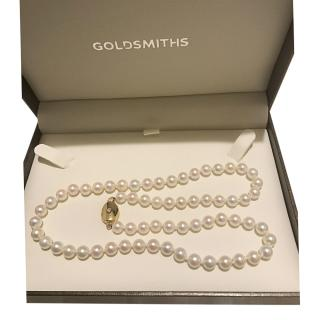 Chanel Cultured Pearl Necklace with Yellow Gold & Diamond Clasp