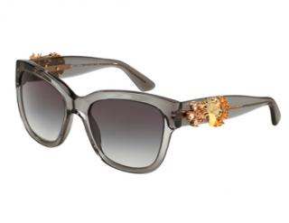 Dolce & Gabbana Embellished Grey Sunglasses