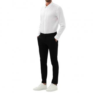 Michael Kors Black Stretch Twill Chinos