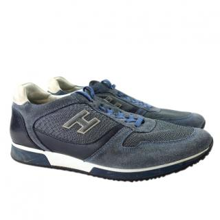 Hogan Blue Suede & Leather Sneakers