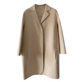 Max Mara Beige Wool Tailored Coat