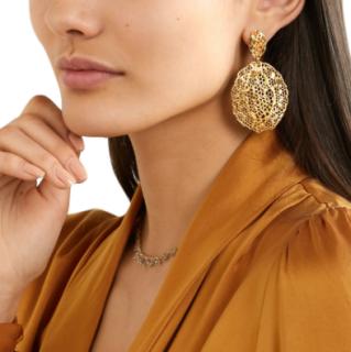 Aur�lie Bidermann Dentelle gold-plated earrings -rose gold