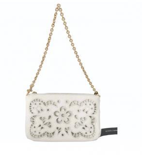 Dolce & Gabbana White Lasercut Shoulder Bag