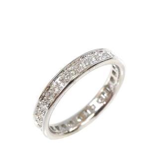 Cartier 18kt White Gold Diamond Ballerine Band Ring