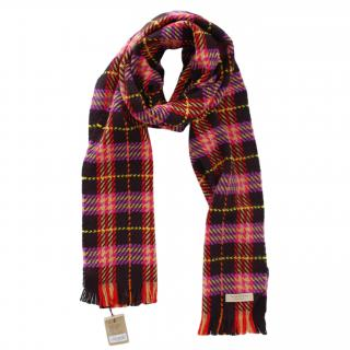 Burberry Plaid Merino Wool Scarf