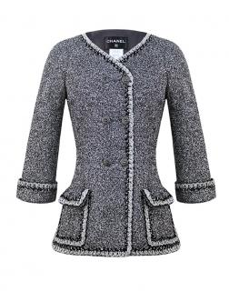 Chanel Metallic Boucle Tweed Fitted Fantasy Jacket