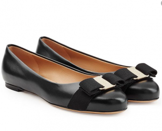 Salvatore Ferragamo Varina Leather Ballet Flats