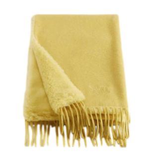Max Mara Yellow Camel Teddy Scarf