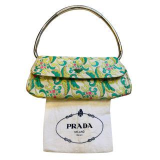 Prada Brocade Top Handle Evening Bag