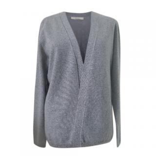 Max Mara Wool & Cashmere Grey Cardigan
