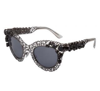 Dolce & Gabbana Filigree Cat-Eye Sunglasses