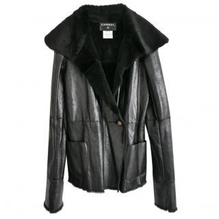 Chanel Paris/Tokyo Rabbit Fur Leather Coat