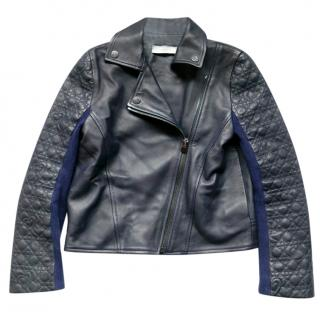 Christian Dior Navy Lambskin Kids 10Y Leather Jacket