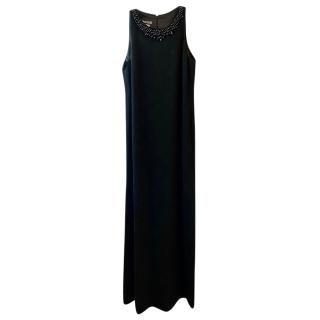 Boutique Moschino Sleeveless Gown with Embellished Collar