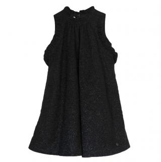 Christian Dior Kids 8Y Metallic Ruffled Dress