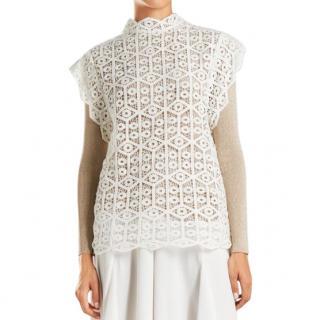IRO Lauuka Scalloped Crochet Top