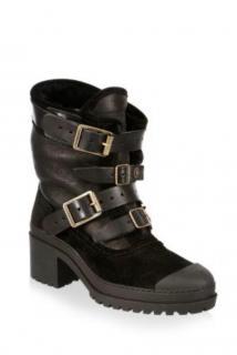 Burberry Black Shearling Dukesbridge Boots