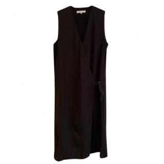 Gerard Darel Black Belted Wrap Dress